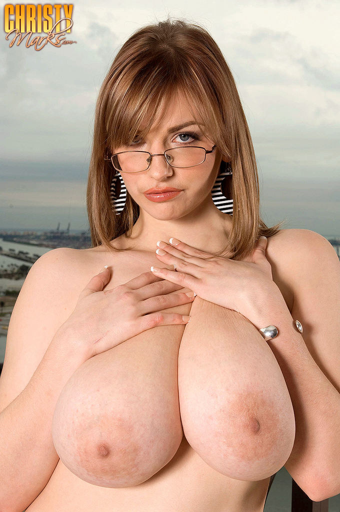 Christy Marks posing with her big juicy Tits
